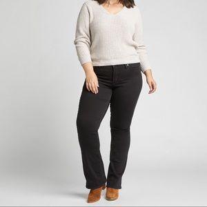 NWT Plus Size Calvin Klein Black Boot Cut Jeans